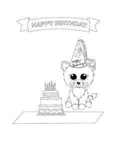 beanie boo birthday coloring page - Beanie Boo Coloring Pages