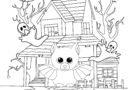Halloween Coloring Page with Beanie Boo Bat