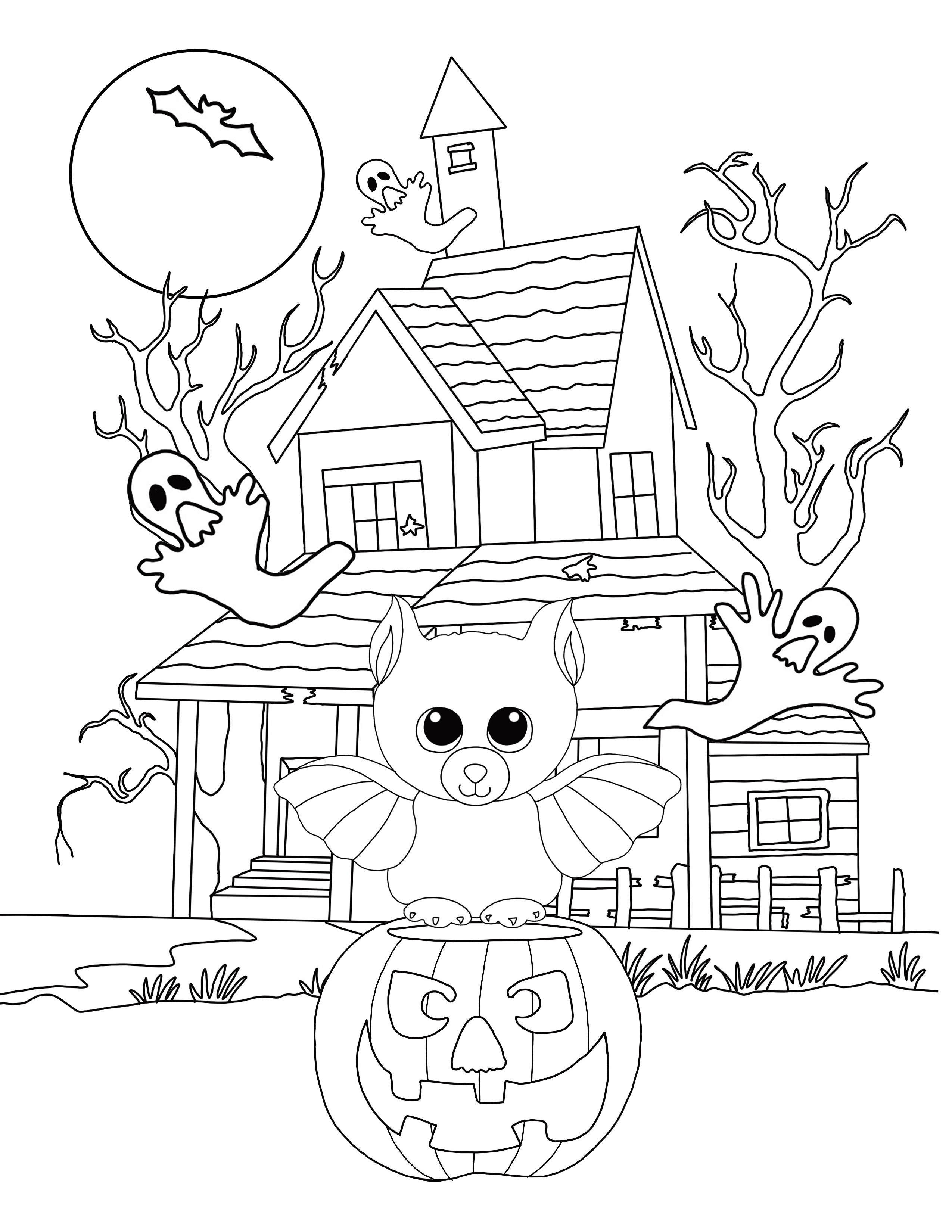 Halloween Coloring Page - Beanie Boo Fan Club
