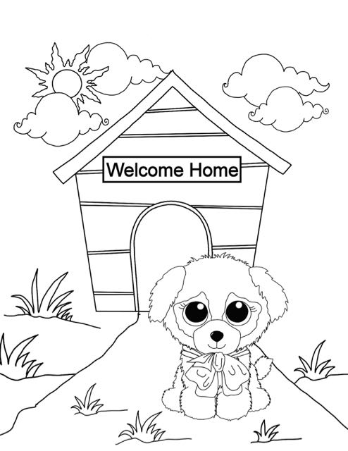 Beanie Boo Coloring Pages: New Puppy
