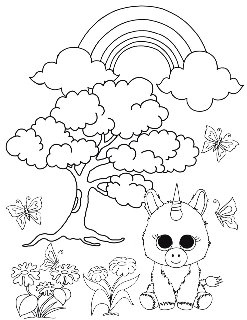 Free Beanie Boo Coloring Pages